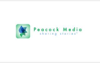 Peacock Media sharing stories logo