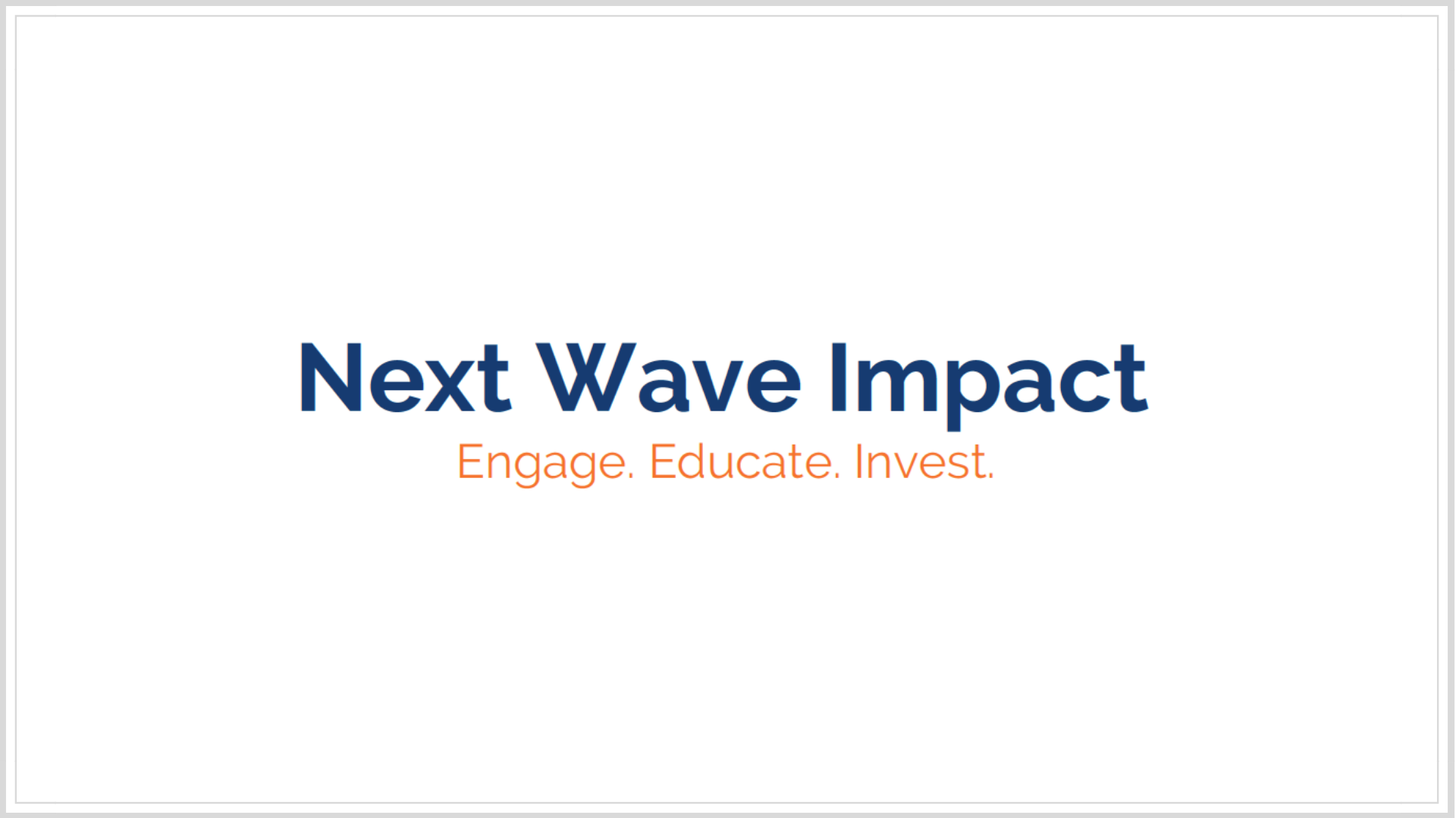Next Wave Impact | Chloe Capital